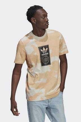 adidas Erkek Günlük T-shirt Camo Aop Tongue Gn1864