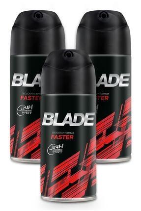 Blade Faster Erkek Deodorant 3x150ml