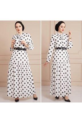 Moda Pery Kadın Puantiyeli Elbise