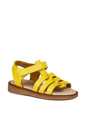 Vicco Candy Deri Kız Bebe Sarı Sandalet