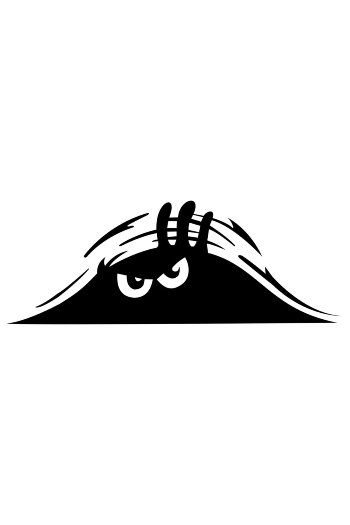 Quart Aksesuar Siyah 30 cm Bagajdan Bakan Adam Oto Sticker Araba Sticker 1