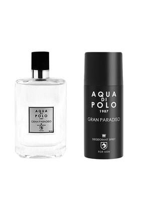 Aqua Di Polo 1987 Gran Paradiso Edp 50 ml Erkek Parfüm Seti 8682367092403