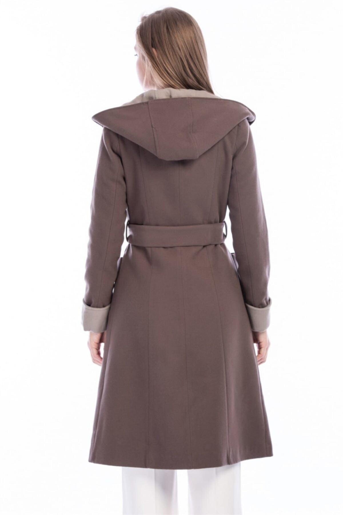 Dewberry Kadın Vizon Palto 2