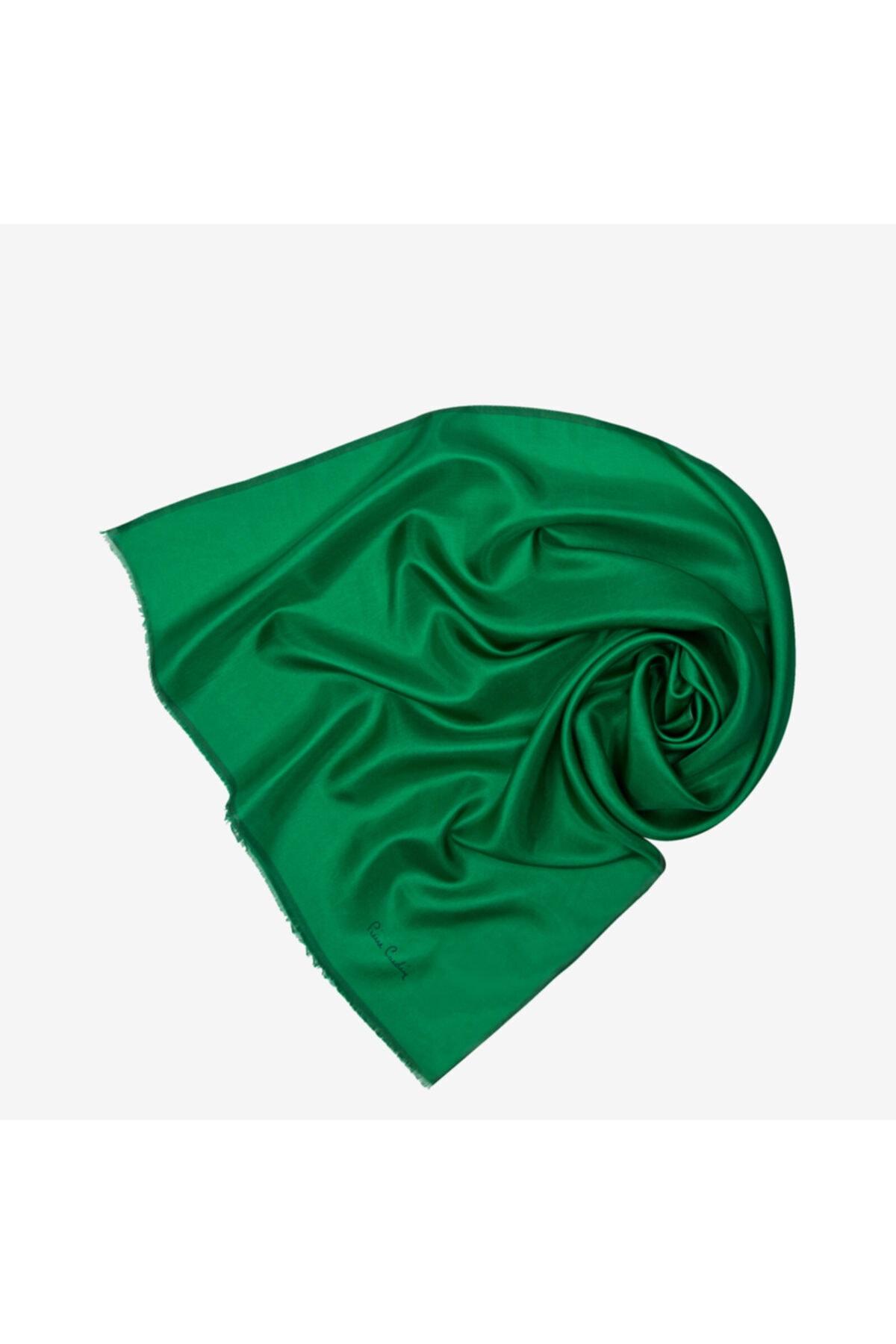 Pierre Cardin Kadın Yeşil Vual Fular Düz Eşarp 7083324-352 1