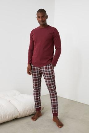 TRENDYOL MAN Ekoseli Baskılı Örme Pijama Takımı THMAW21PT0714