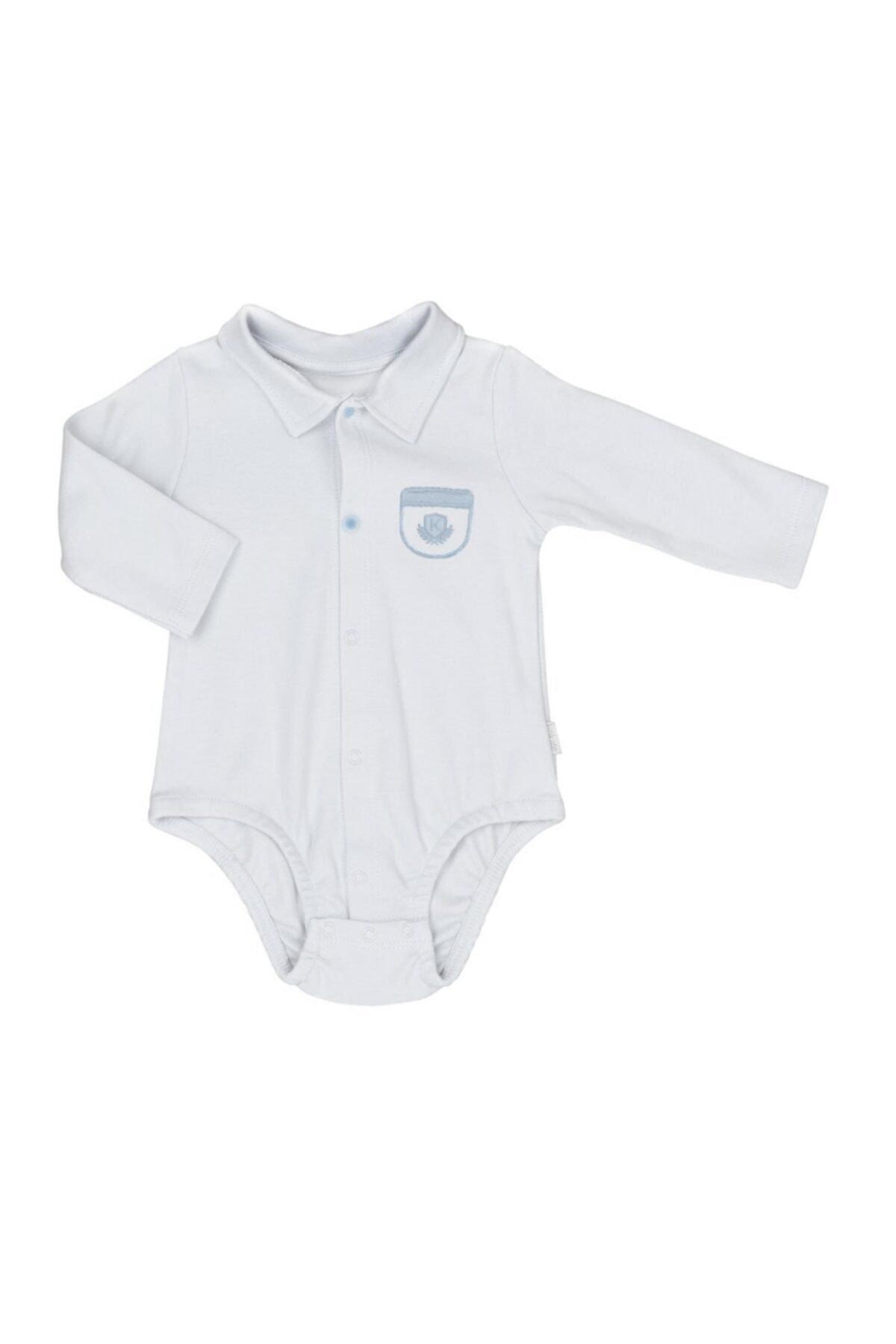kitikate Erkek Bebek Beyaz Dreams Cepli Gömlek Body S38699 1