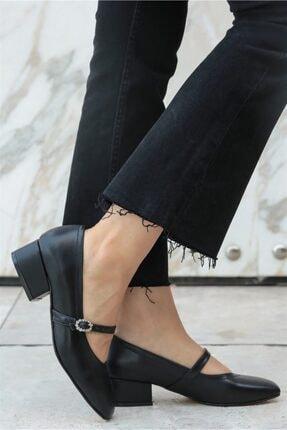 Mio Gusto Julia Siyah Taşlı Topuklu Ayakkabı