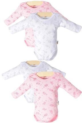 Pattaya Kids Kız Bebek Çıtçıtlı Uzun Kollu 4'lü Zıbın Takımı Ptk20s-407