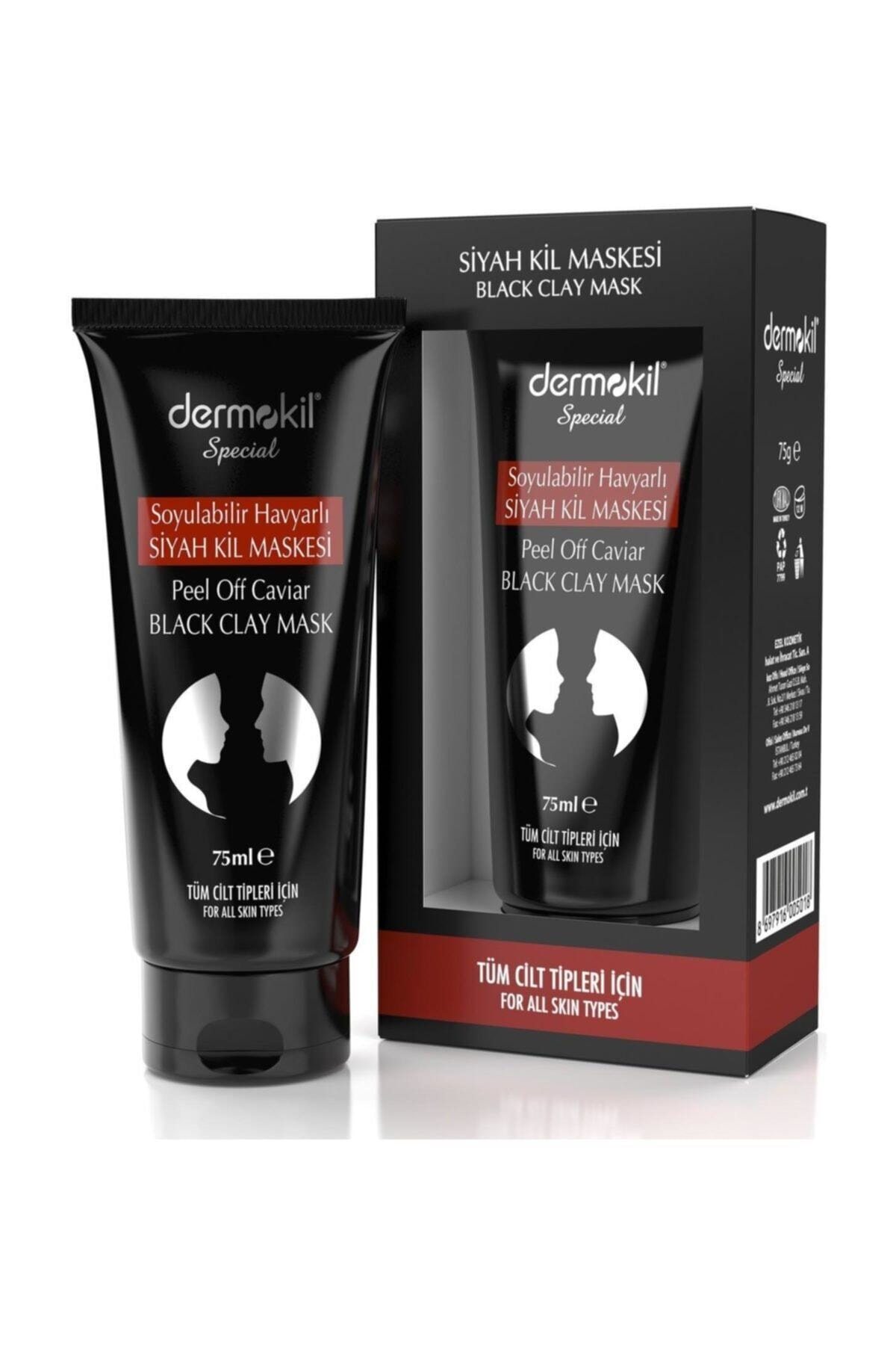 Dermokil Special Soyulabilir Havyarlı Siyah Kil Maskesi 75 Ml Tüm Cilt Tipleri Için 8697916005018 1