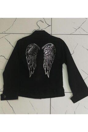 Sercino Kız Çocuk Siyah Kot Ceket