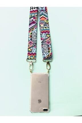 HEYO COVER Iphone 7 Plus Boyundan Askılı Etnik Desen Telefon Kılıfı