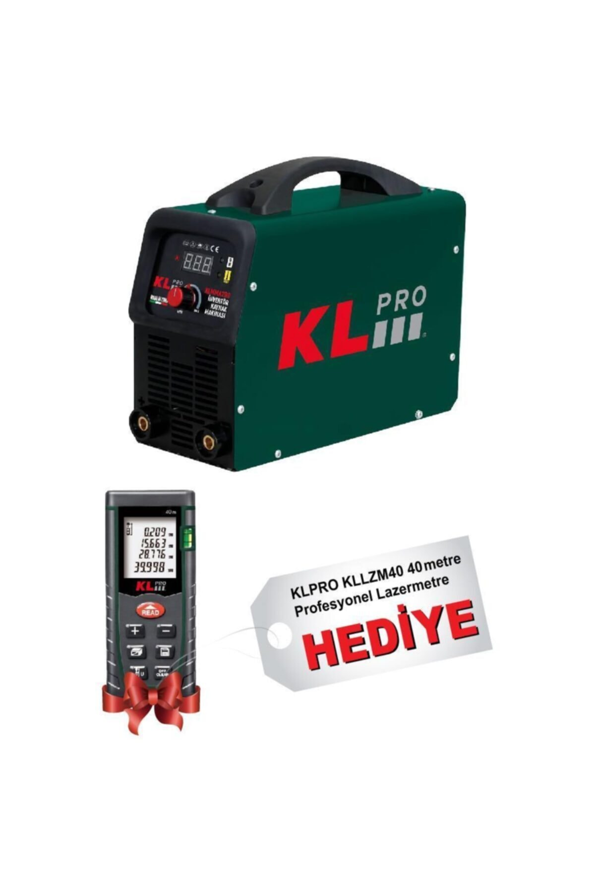 KLPRO Klmma200 Inverter Kaynak Makinesi 200 Amper + Kllzm40 40metre Lazer Metre 1