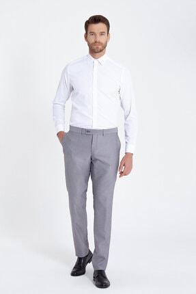 Hatemoğlu Erkek Regular Fit Armürlü Beyaz Gömlek