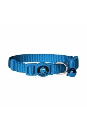 Doco Güvenlikli Kedi Tasması Mavi