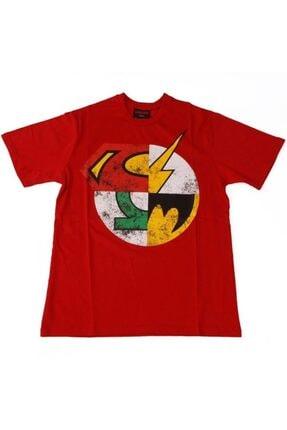 TM & DC Comics-Warner Bros Unisex Kırmızı Dc Super Heroes Logo Tişört