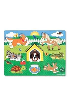 Melissa & Doug Melissa&doug Ahşap Tutmalı Yapboz - Evcil Hayvanlar