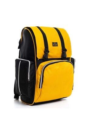 Mother Bag store Sarı Siyah Anne Bebek Bakım Sırt Çantaası
