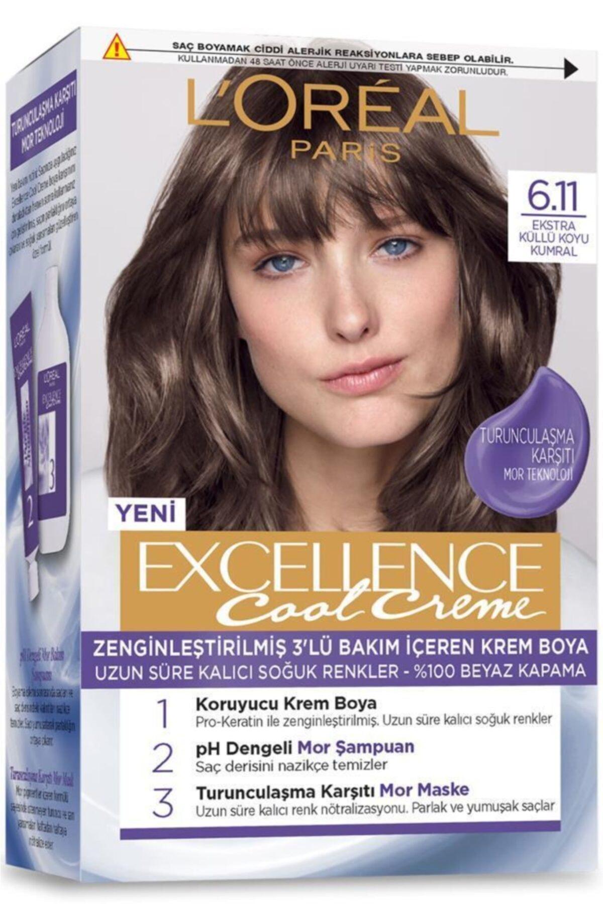 L'Oreal Paris L'oréal Paris Excellence Cool Creme Saç Boyası – 6.11 Ekstra Küllü Koyu Kumral 2
