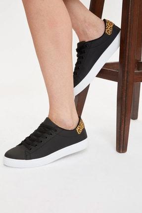 DeFacto Fit Kadın Siyah Bağcıklı Sneaker Ayakkabı S0829AZ20AU