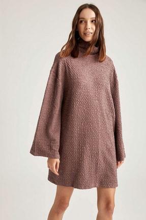 DeFacto Oversize Dik Yaka Uzun Kollu Elbise