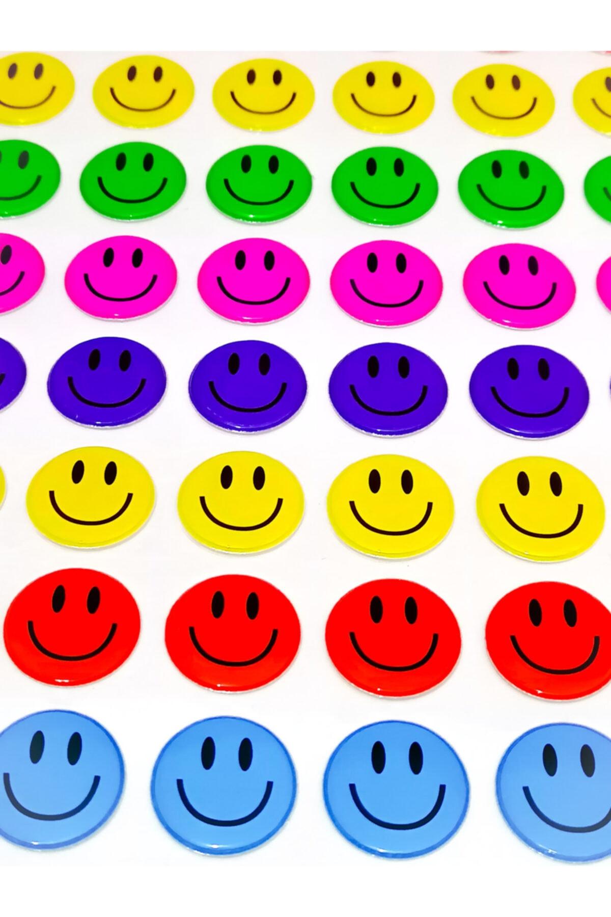 Face Gülen Yüz Emoji Sticker 79 Adet 2 Cm 1