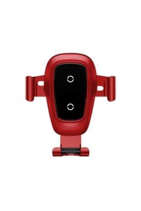 Baseus Wireless Kablosuz Araç Şarjı Ve Tutucu Kırmızı Wxyl-b09
