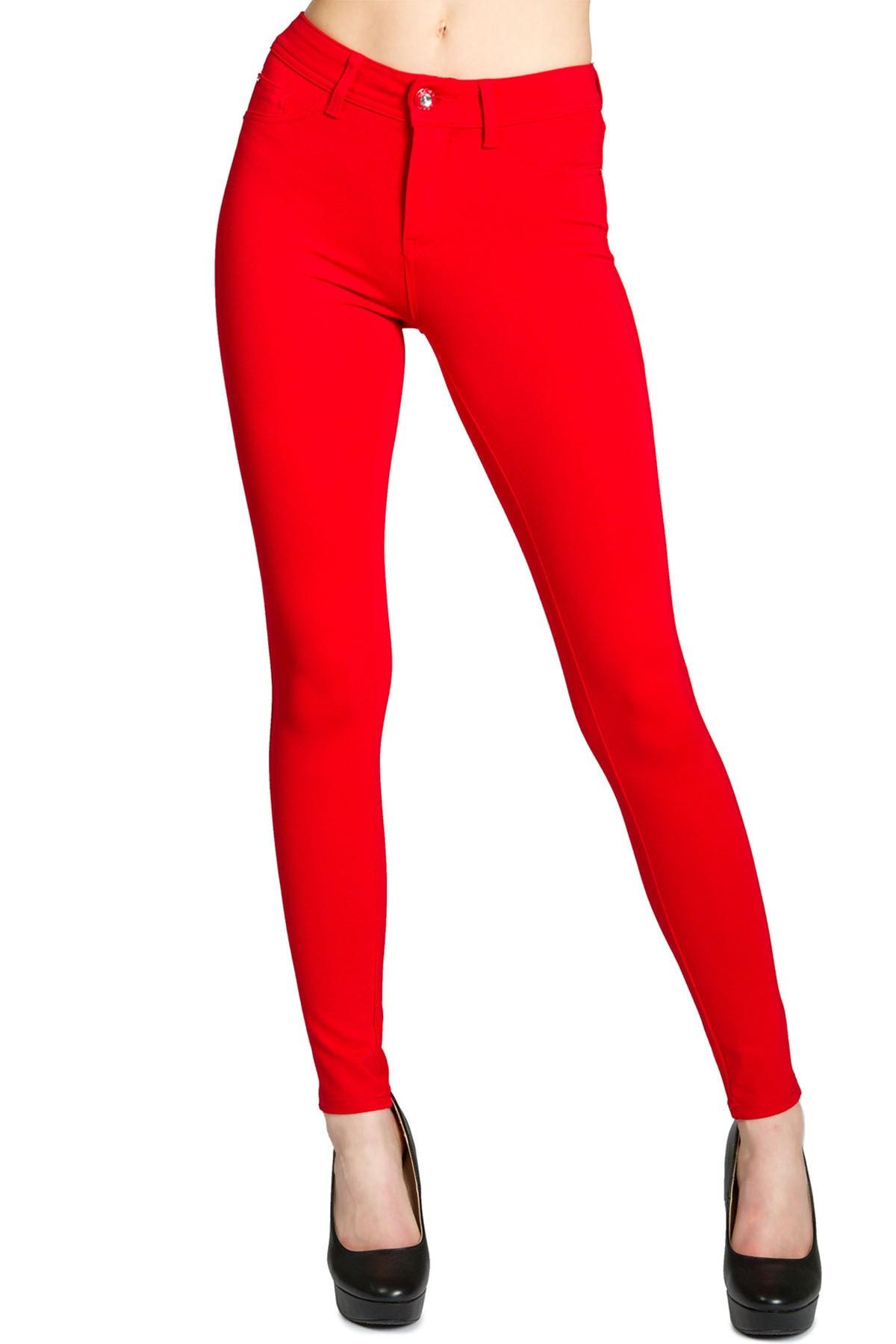 LM Kadın Kırmızı Streç Dar Model Kot Pantolon 2