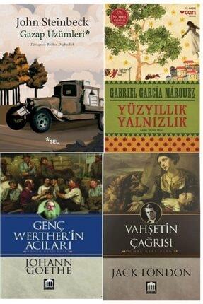 Optimum Kitap Gazap Üzümleri, Yüzyıllık Yalnızlık, Genç Werther'in Acıları Ve Vahşetin Çağrısı Kitap Seti