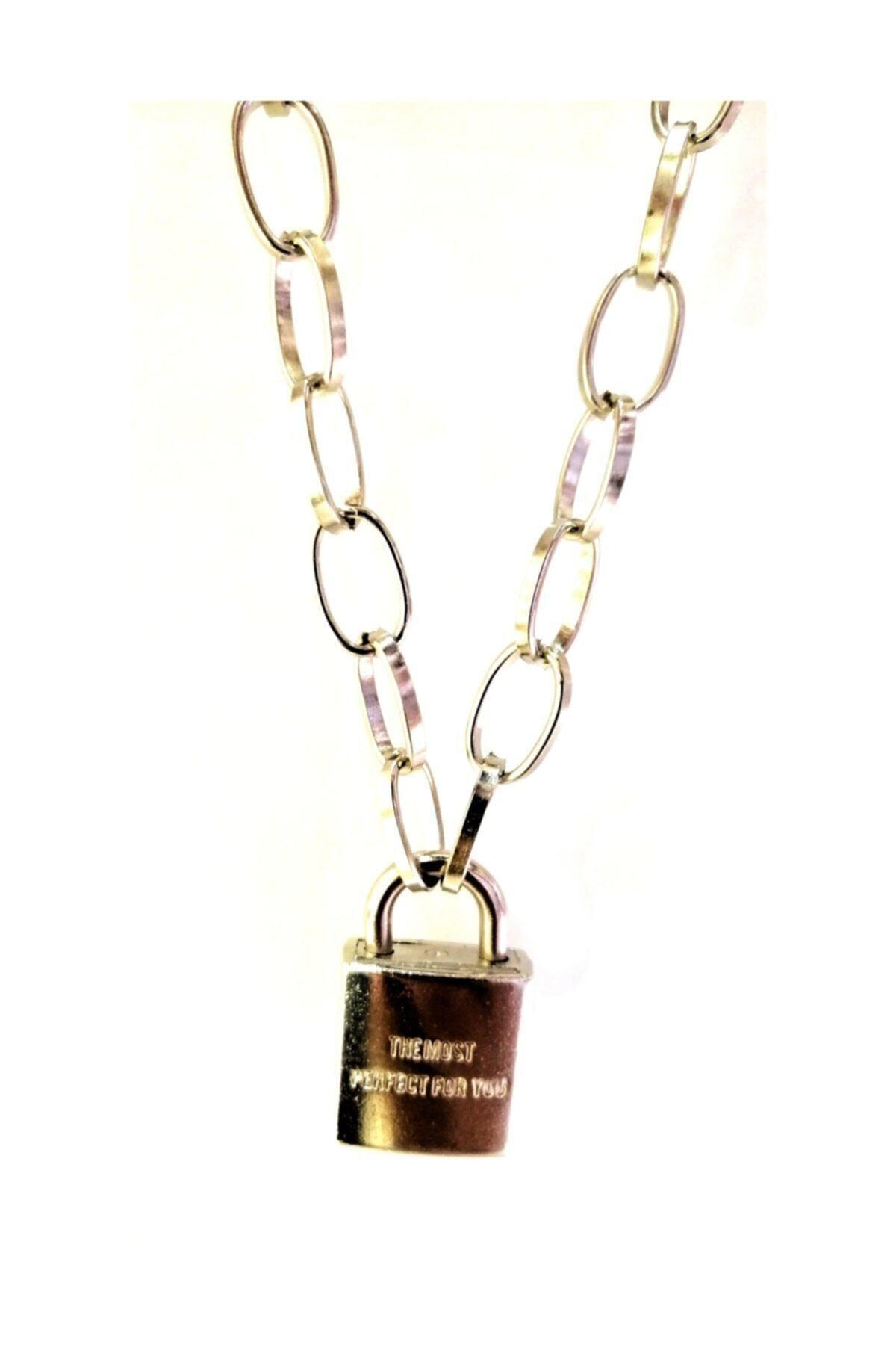 LapisButik Gümüş Anahtar Kilit Kolye 2