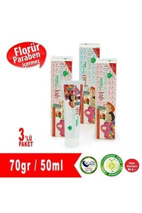 Organicadent Florürsüz Çocuk Diş Macunu 3'lü Paket
