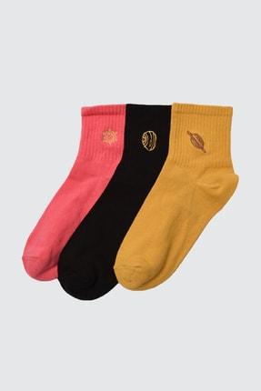 TRENDYOLMİLLA 3'lü Tarçın Örme Çorap TWOAW21CO0102