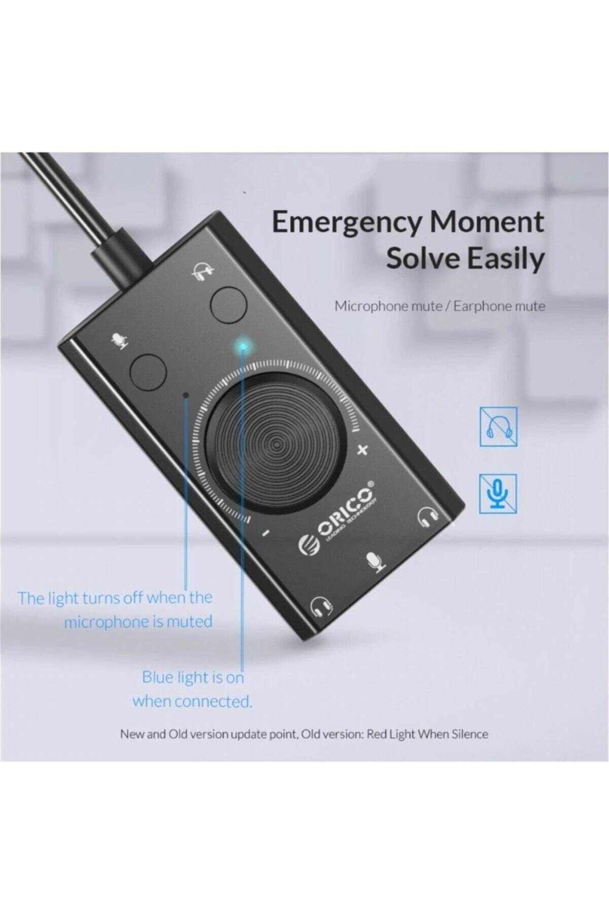 Orico Harici Usb Ses Kartı Stereo Mikrofon Hoparlör Kulaklık Ses Kartı 2