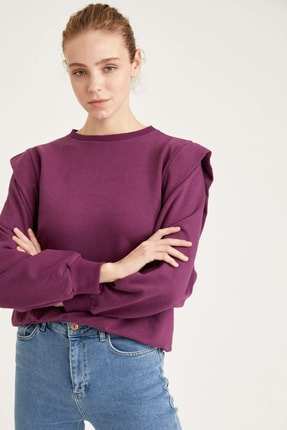 DeFacto Dik Omuz Detaylı Relax Fit Sweatshirt