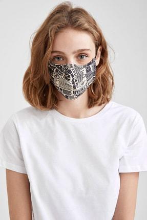 DeFacto Kadın Gazete Baskılı Yıkanabilir Maske