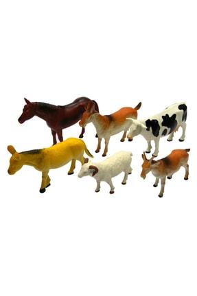 Vardem Oyuncak  6 Parça 20cm Çiftlik Hayvan Seti