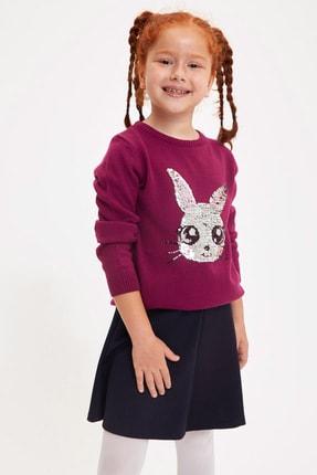 DeFacto Kız Çocuk Tavşan Pul Payet İşlemeli Triko Kazak