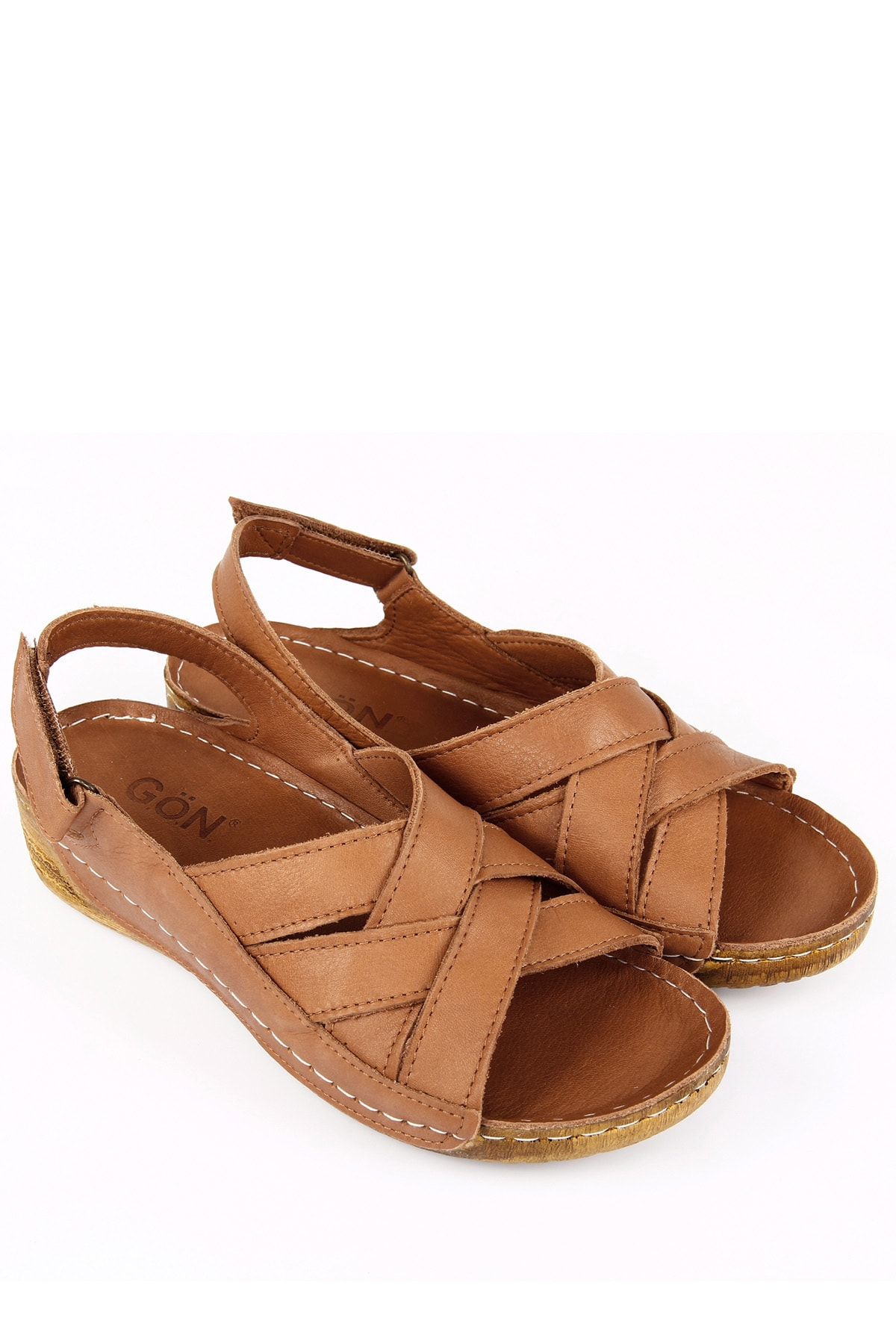 GÖNDERİ(R) Kadın Kahverengi Hakiki Deri Sandalet 42310 2