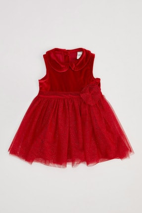DeFacto Kız Çocuk Kadife Kolsuz Elbise