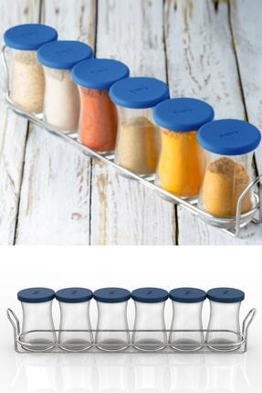 Paşabahçe Zest Glass 6'lı Baharatlık Seti Mavi