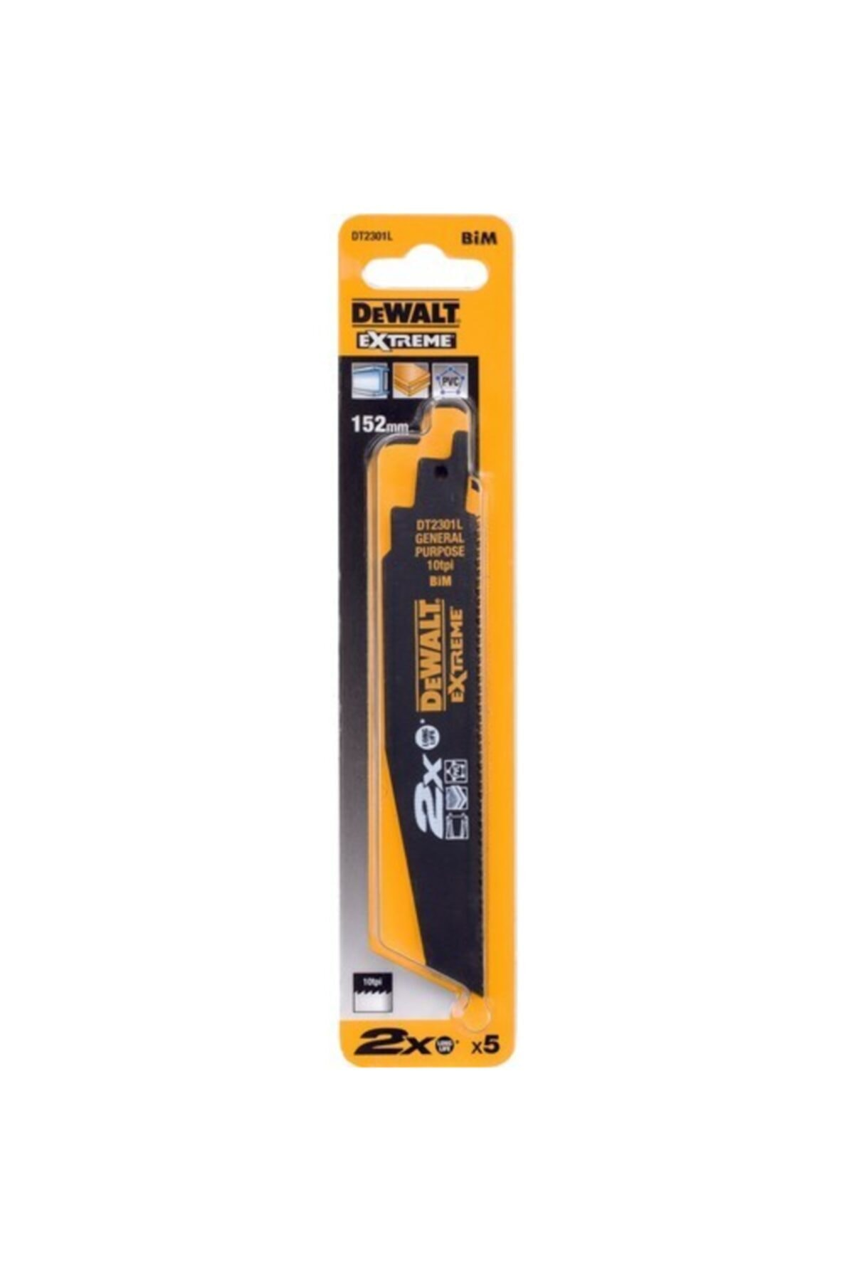Dewalt Dt2301l Tilki Kuyruğu Testere Bıçağı Metal,plastik 5ad. 1