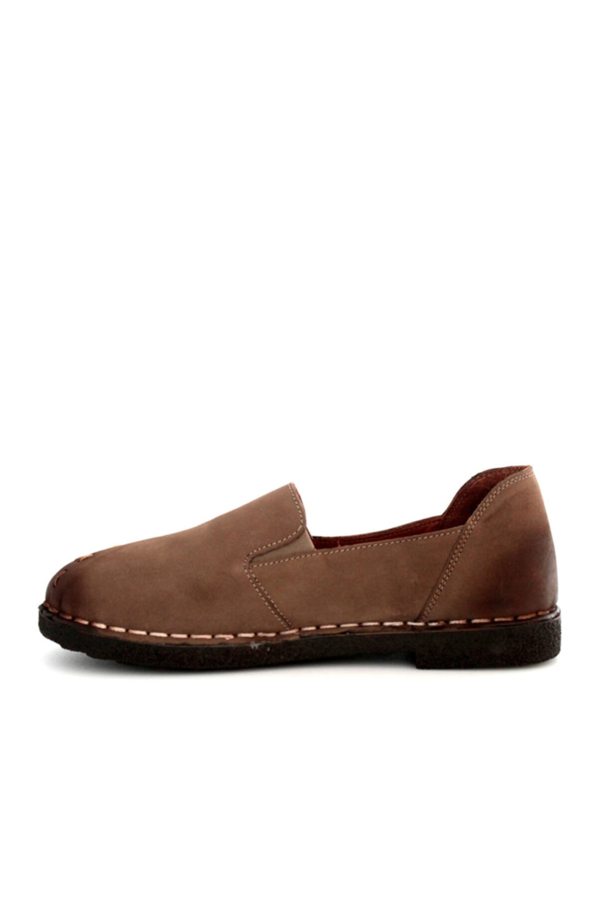 Beta Shoes Kadın Hakiki Deri Ayakkabı Nubuk Vizon 2