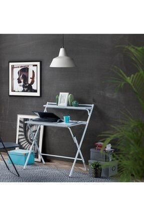 dükkankaan Gri Taş Desen 50x80cm Katlanır Çalışma Masası, Laptop Masası