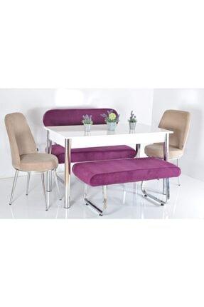 Kaktüs Avm 6 Kişilik Banklı Masa Sandalye Takımı