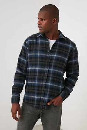 TRENDYOL MAN Kahverengi Erkek Oduncu Regular Fit Gömlek Gömlek TMNAW21GO1170