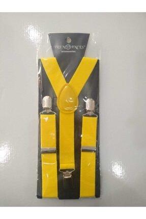 Bay Şapkacı Unisex Çocuk Sarı Ayarlanabilir Pantolon Askısı