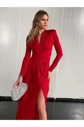 Atelier Basics Kırmızı Parti Elbisesi