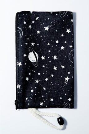EFBUTİK Saturn Çizim Bez Kalemlik Cüzdan