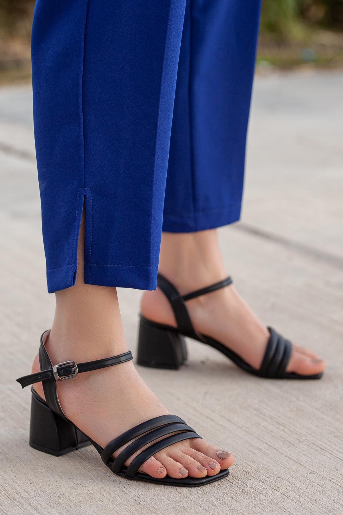 Daxtors Kadın Siyah Klasik Topuklu Ayakkabı 2