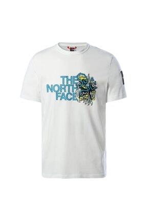 THE NORTH FACE Unisex Beyaz Box Ss Graphıc Tee TshirtNf0a557lfn41
