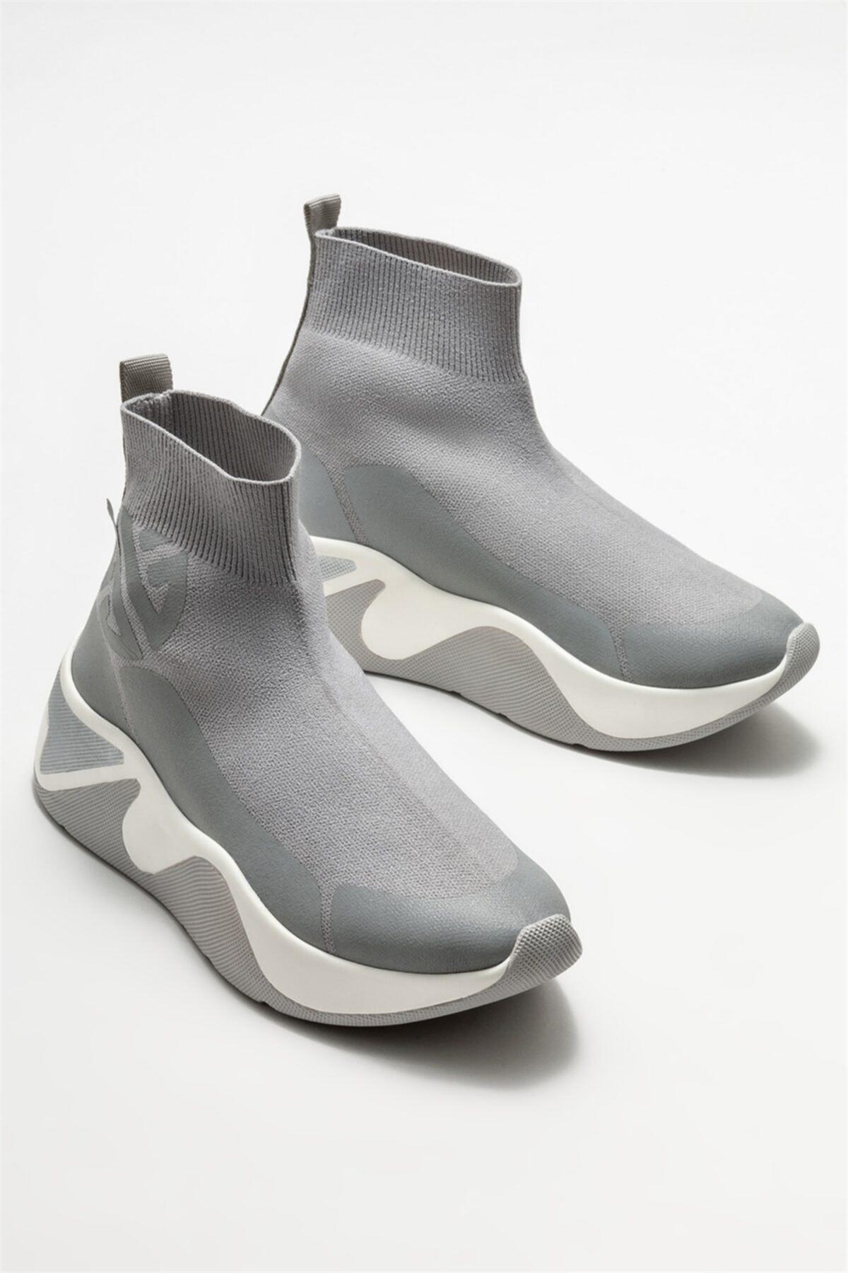 Elle Shoes Gri Kadın Yazlık Bot 2